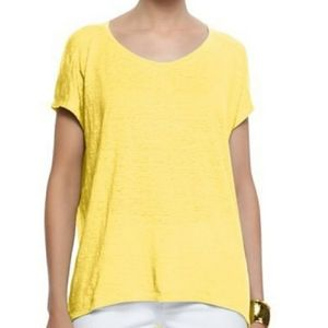 Eileen Fisher golden rod slubby organic cotton tee